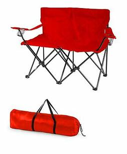 Trademark Innovations Loveseat Style Double Camp Chair with