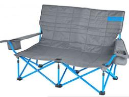 low loveseat two seat folding chair camping