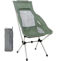 MARCHWAY Lightweight Chairs Folding High Back Camping With H