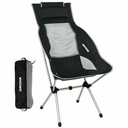 MARCHWAY Lightweight Folding High Back Camping Chair Headres
