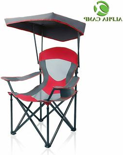 mesh canopy chair folding camping