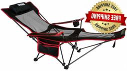 mesh lounge reclining folding camp 22inch chair