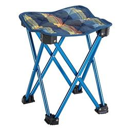 BUNDOK  Mini Aluminum stool plaid blue BD-118B convergence e