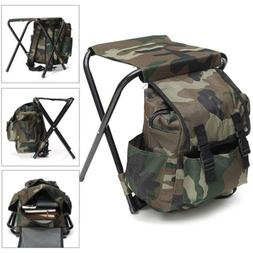 Multi-Function Camouflage Backpack Folding Chair Camping Fis