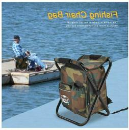 New 2in1 Oxford Fishing Tackle Backpack Bag Camping Foldable