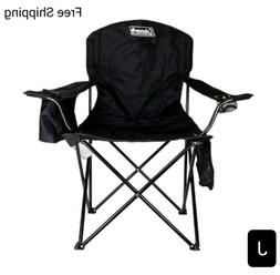New, Coleman Camping Chair with Built In 4 Can Cooler, Black