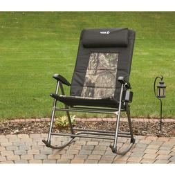 Oversized Folding Rocking Camp Outdoor Chair, 500-lb. Capaci