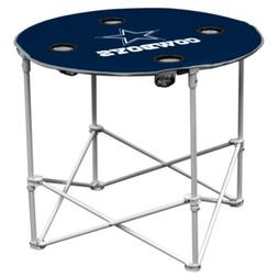 Dallas Cowboys  Collapsible Round Table with 4 Cup Holders a