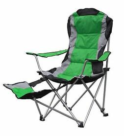 OpenBox GigaTent Camping Chair with Footrest, Green