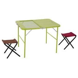 Outdoo Camping Combo Center Half Folding Table Desk with Dou