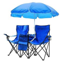 Outdoor beach fishing chair with umbrella blue for Parties B