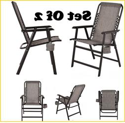 Outdoor Camping Chairs Foldable Chair Lawn Folding Seat Pati
