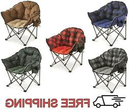 Outdoor Camping Club Chair Oversized Seat Fishing Picnic Fol