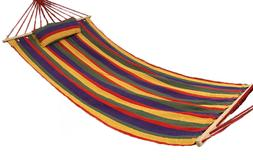 Outdoor Camping Cotton Fabric Hammock Air Swing Chair Tree H