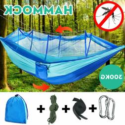 Outdoor Camping Double Mosquito Net Hammock Tent Chair Nylon