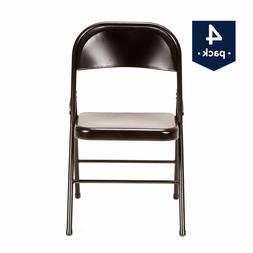 Outdoor Camping Folding Chair Armless Steel Metal Cushion Se