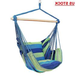 Outdoor Camping Hammock Hanging Rope Chair Swing Seat Patio