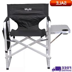 Outdoor Folding Chair Black Perfect For Camping/ Barbeques/P