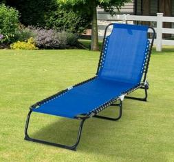 Outdoor Lounge Sun Chaise Recliner Camping Patio Cot Bed Bea