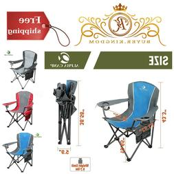 Outdoor Oversized Camping Chair Steel Frame Padded Arm Chair