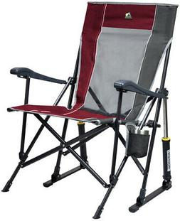 Outdoor RoadTrip Rocker Chair Sturdy Camp Sport Patio Foldab