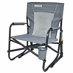 Outdoor Rocker Portable Folding Rocking Chair Lawn Camping T