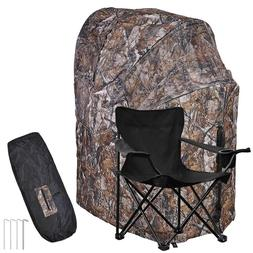Outdoor Sport Hunting Camping Chair Ground Blind Real Tree T