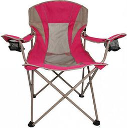 Oversize Mesh Folding Camping Chair Ozark Trail Seat Cup Hol