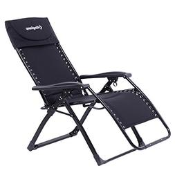 KingCamp Zero Gravity Patio Lounge Chair Recliner Oversized