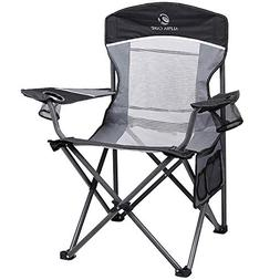 ALPHA CAMP Oversized Camping Chair Folding Portable Mesh Cha