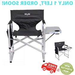 Oversized Camping Chair Lounge Big Director Tall Outdoor Fol
