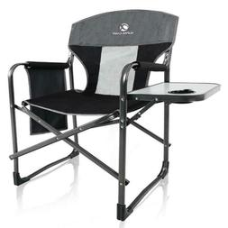 ALPHA CAMP Oversized Camping Director Chair Heavy Duty Frame