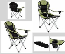 Oversized Camping Fishing Beach Chair Heavy Duty Adjust Recl