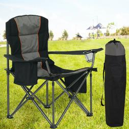 ALPHA CAMP Oversized Camping Folding Chair Heavy Duty Suppor