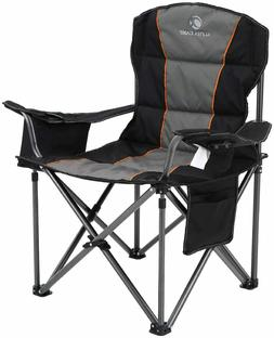 ALPHA CAMP Oversized Camping Folding Portable Chair Heavy Du