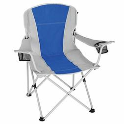 Ozark Trail Oversized Chair, White/Blue