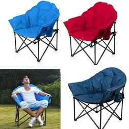 Oversized Folding Camping Chairs Padded Moon Round Chair Sau