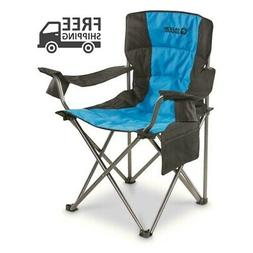 Oversized King Camp Chair 500 lb Cap Blue Portable Foldable