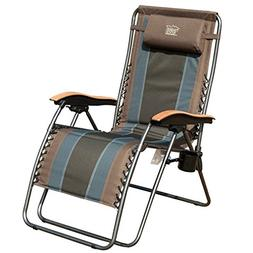 Timber Ridge Zero Gravity Locking Patio Outdoor Lounger Chai