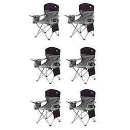 Coleman Oversized Quad Black Chairs + Cooler/Cup Holder, 6-P