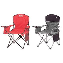 Coleman Oversized Quad Chair with Cooler and Cup Holder, Gra