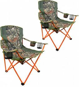 Oversized Quad Chair Set of 2 Camouflage Hunting Camping Hik