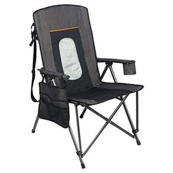 PORTAL Oversized Quad Folding Camping Chair High Back Cup Ho