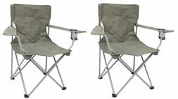 OZARK TRAIL Folding Camp Chair Quad Cup holder Tailgate Barb