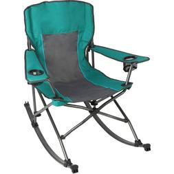 Ozark Trail Quad Fold Rocking Camp Chair with Cup Holders, G