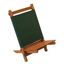 Pangean Lounger Portable Chair, Hardwood Keruing Wood, Hand-
