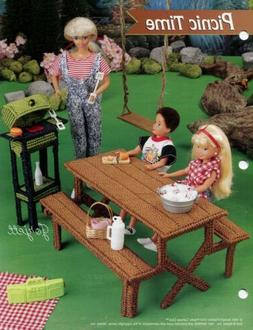 Picnic Time BBQ Grill & Table ~ fits Barbie doll, plastic ca