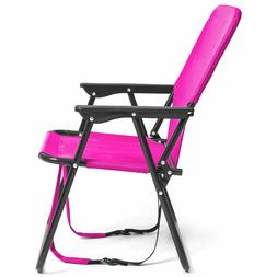 Pink Adjustable Outdoor Beach Sports Camping Chair Folding T