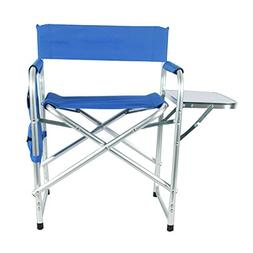 Portable Aluminium Folding Director's Chair With Side Table