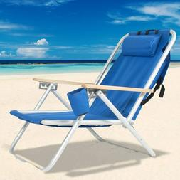 Portable Beach Pool Lounge Chair Outdoor Camping Picnic Pati